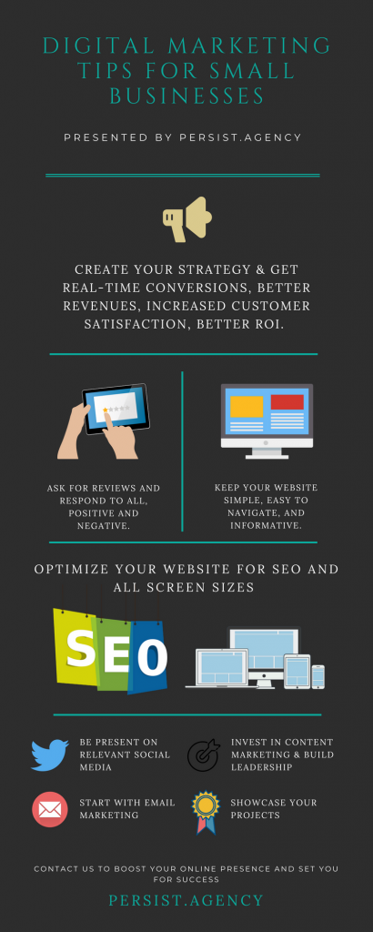 Digital Marketing Tips for Small Businesses Infographic by Persist Agency