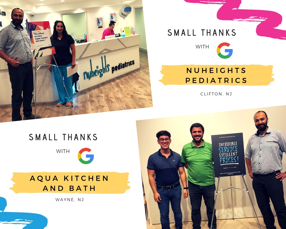 Google Small Thanks with Nuheights Pediatrics and Aqua Kitchen and Bath Design Center