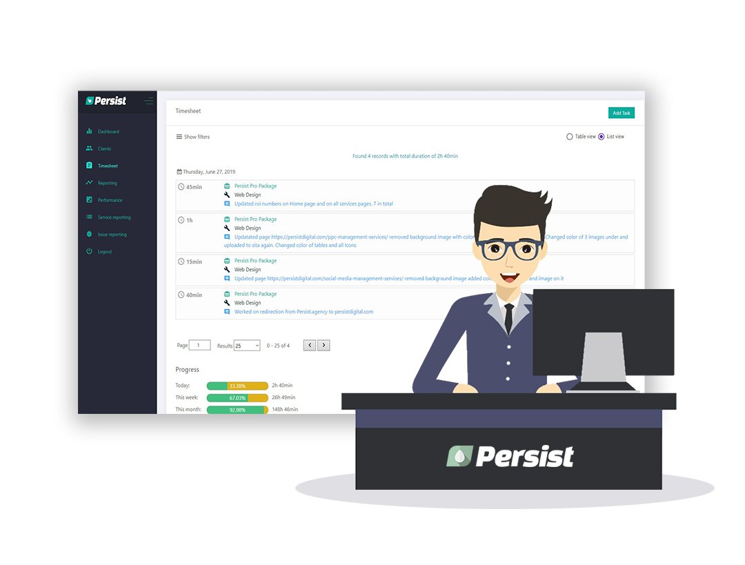 Persist Digital Agency App