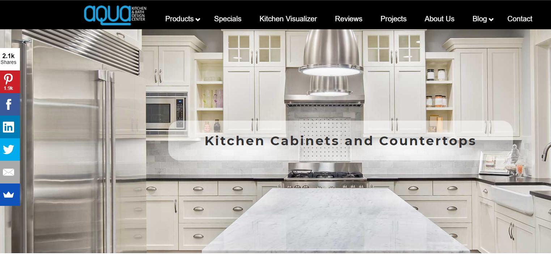 Aqua Kitchen and Bath Design Center Social Media Marketing Strategy