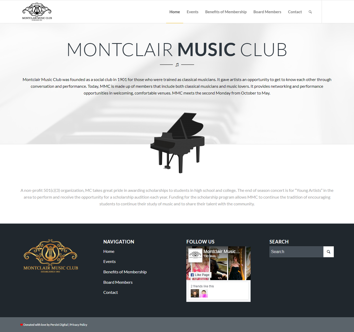 Montclair Music Club Donation