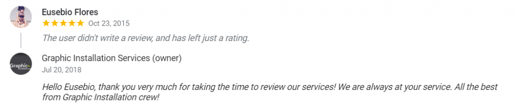 How to respond to an excellent rating