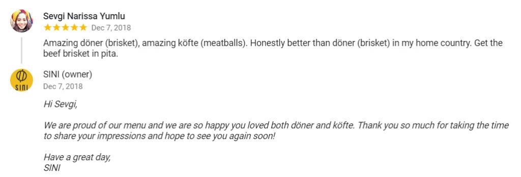 How to respond to positive Google reviews