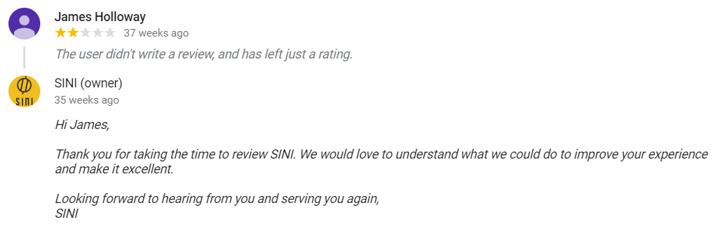 How to deal with low ratings example